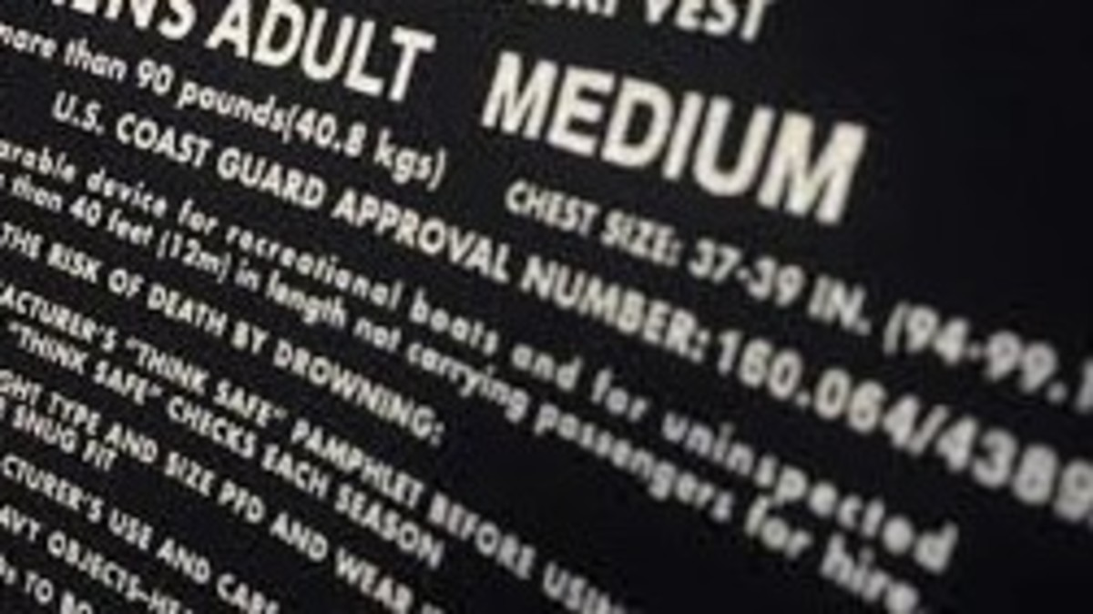 Check inside the vest for Coast Guard approval.