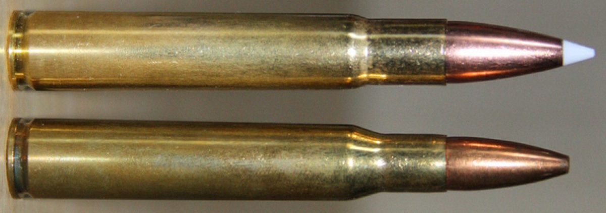 .35 Whelen (top), .30-06 (bottom)