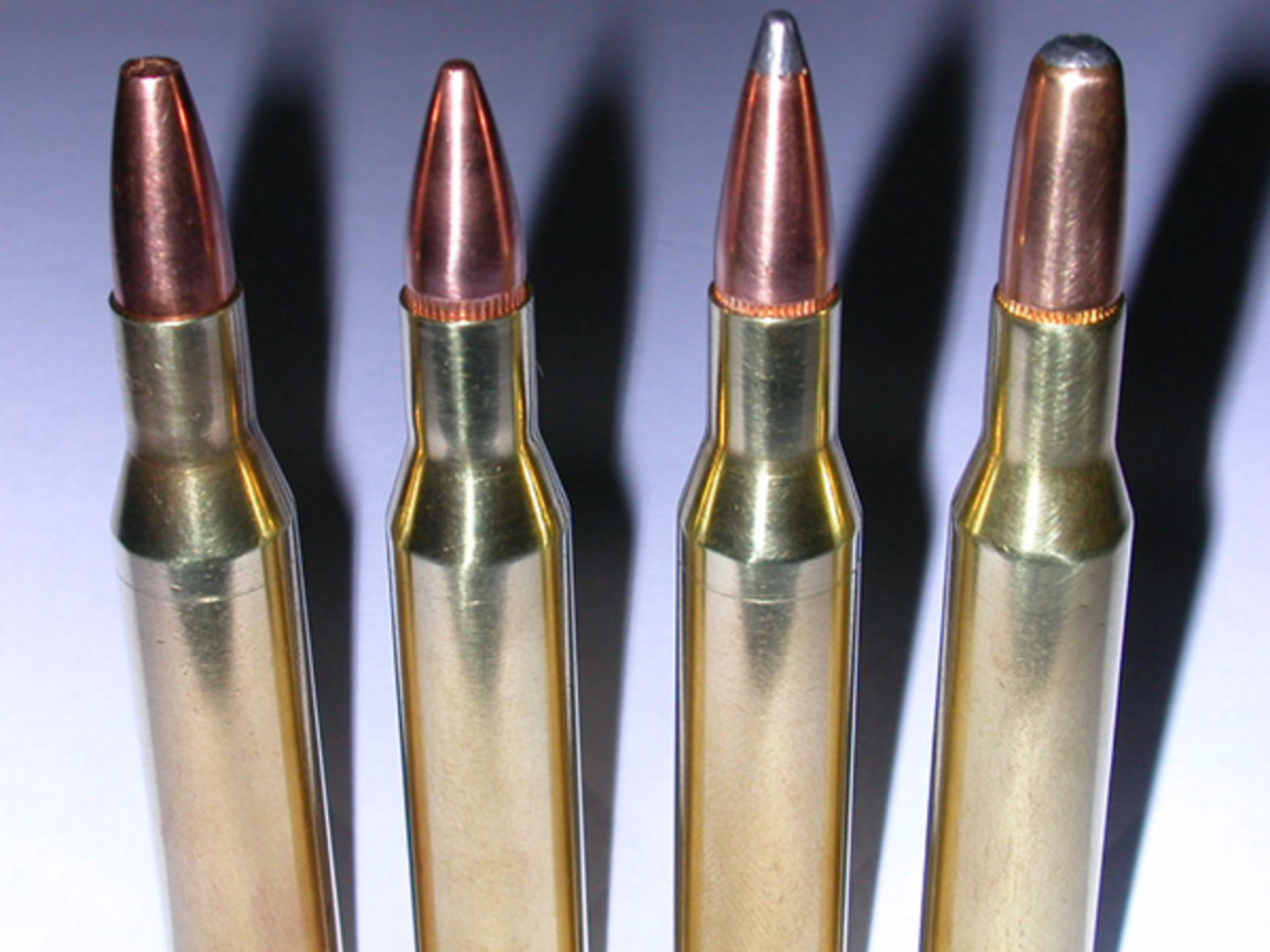 .270 Winchester with four different bullet configurations