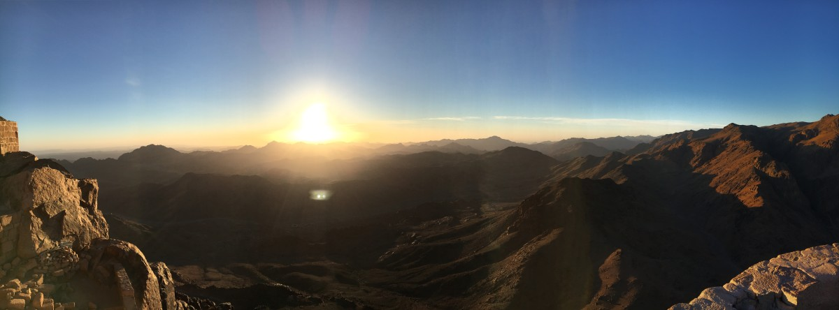 Beautiful sunrise at Mount Sinai Egypt