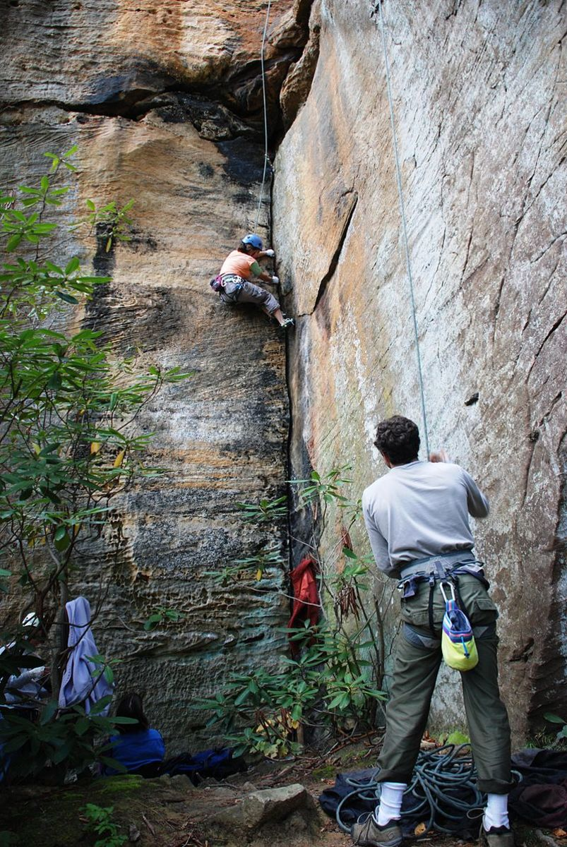 Climbers at Red River Gorge, Kentucky.