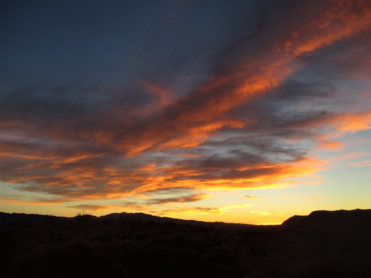 Beautiful sunsets are a common event along the St. George network of trails.