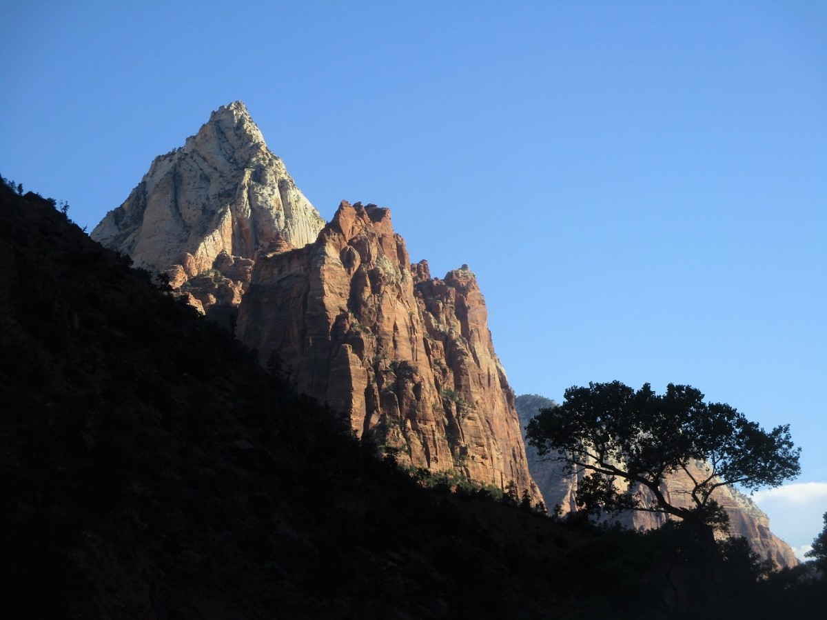 Many of the peaks surrounding the Virgin River bear biblical names