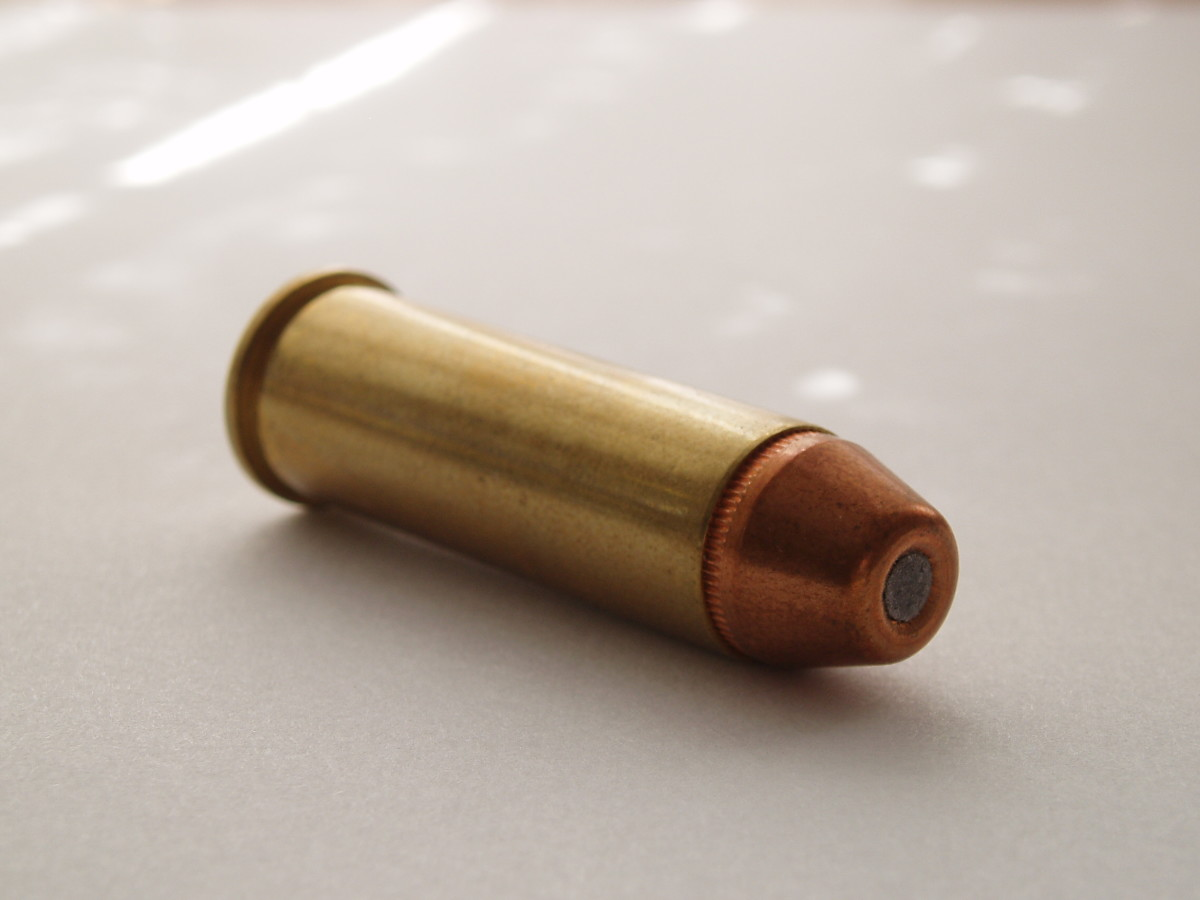 .41 Remington Magnum.  Still the best revolver cartridge ever, in the author's not so humble opinion.