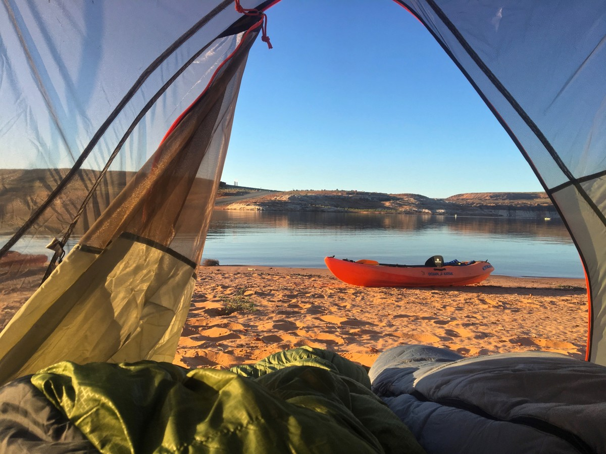 Best morning tent view ever