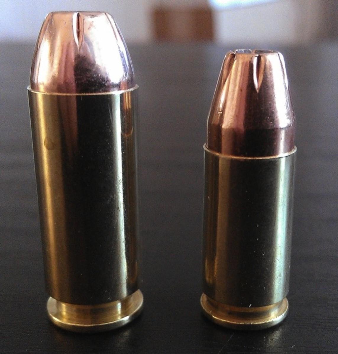 10mm Auto (left) vs. 9mm Parabellum