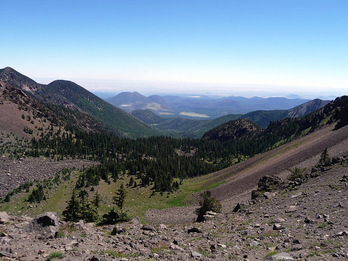 View of the Inner Basin from the saddle,