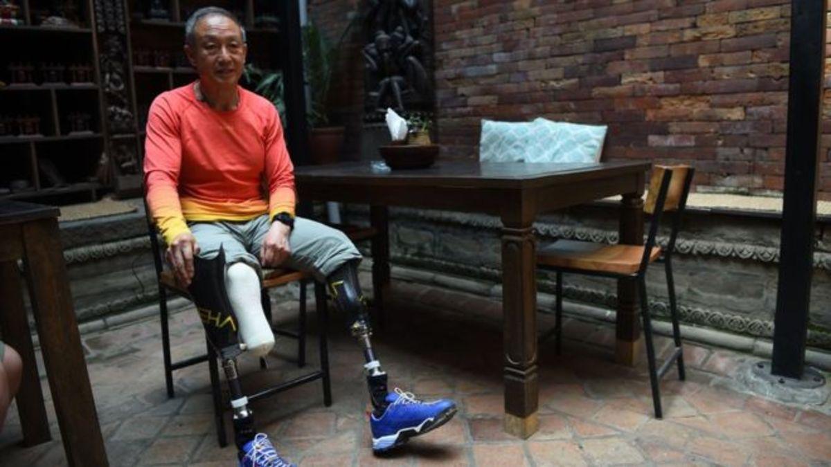 Xia Boyu at his home in China