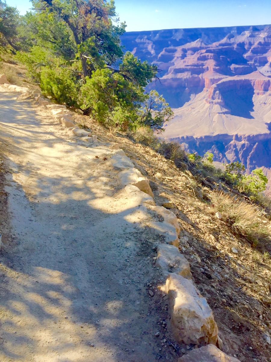 Natural Surface Tail Along Canyon Rim