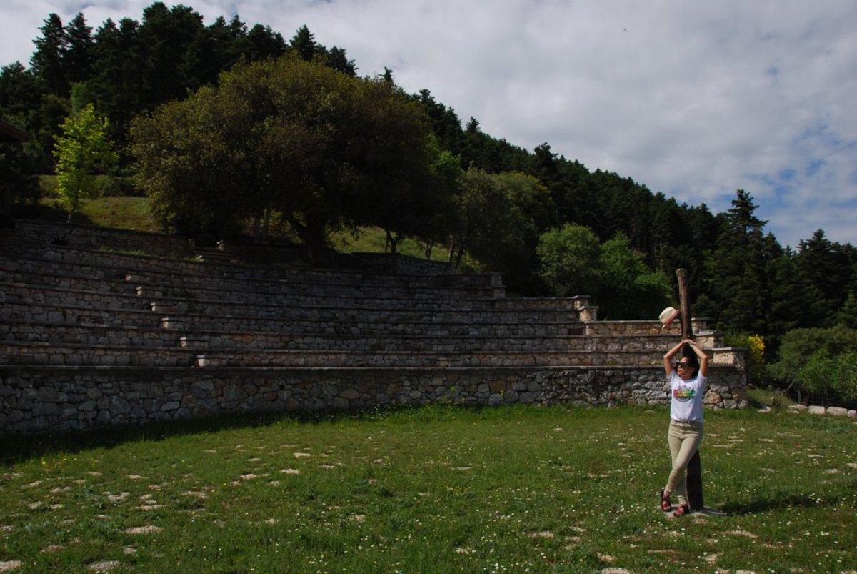 The small amphitheater in Valtessiniko monastery...