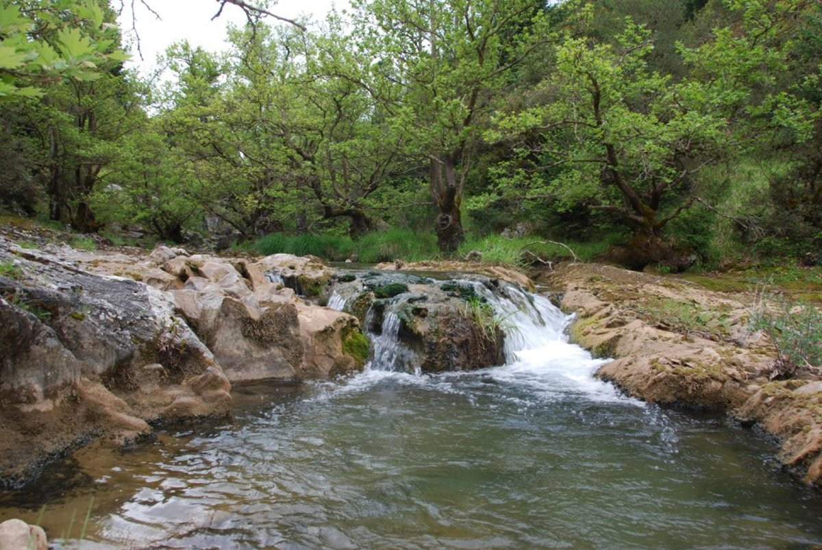 The river in Vytina...