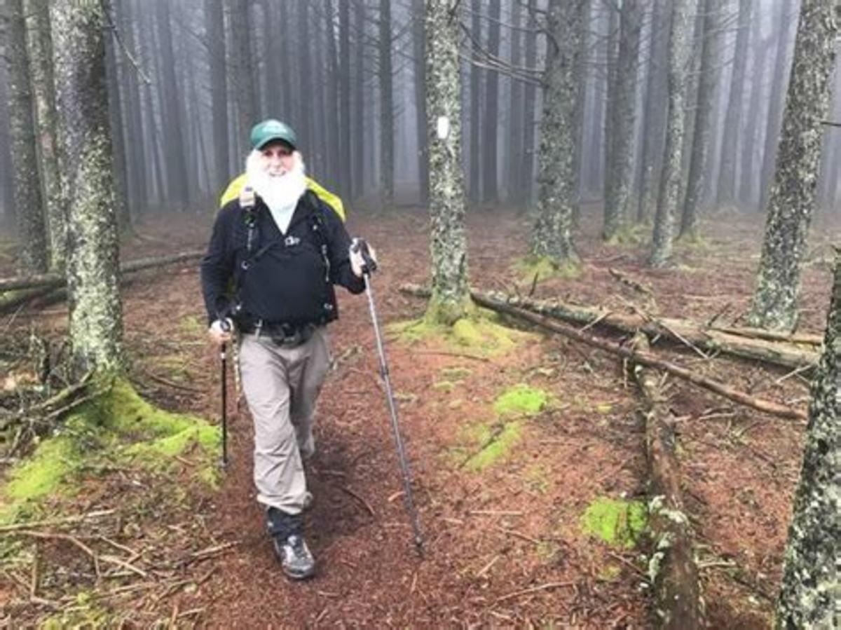 Dale Sanders hiking in Tennessee