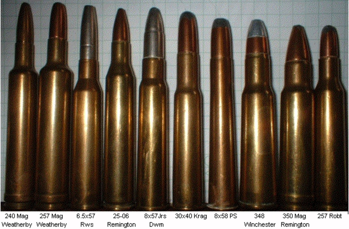 .240 Weatherby Magnum, far left.