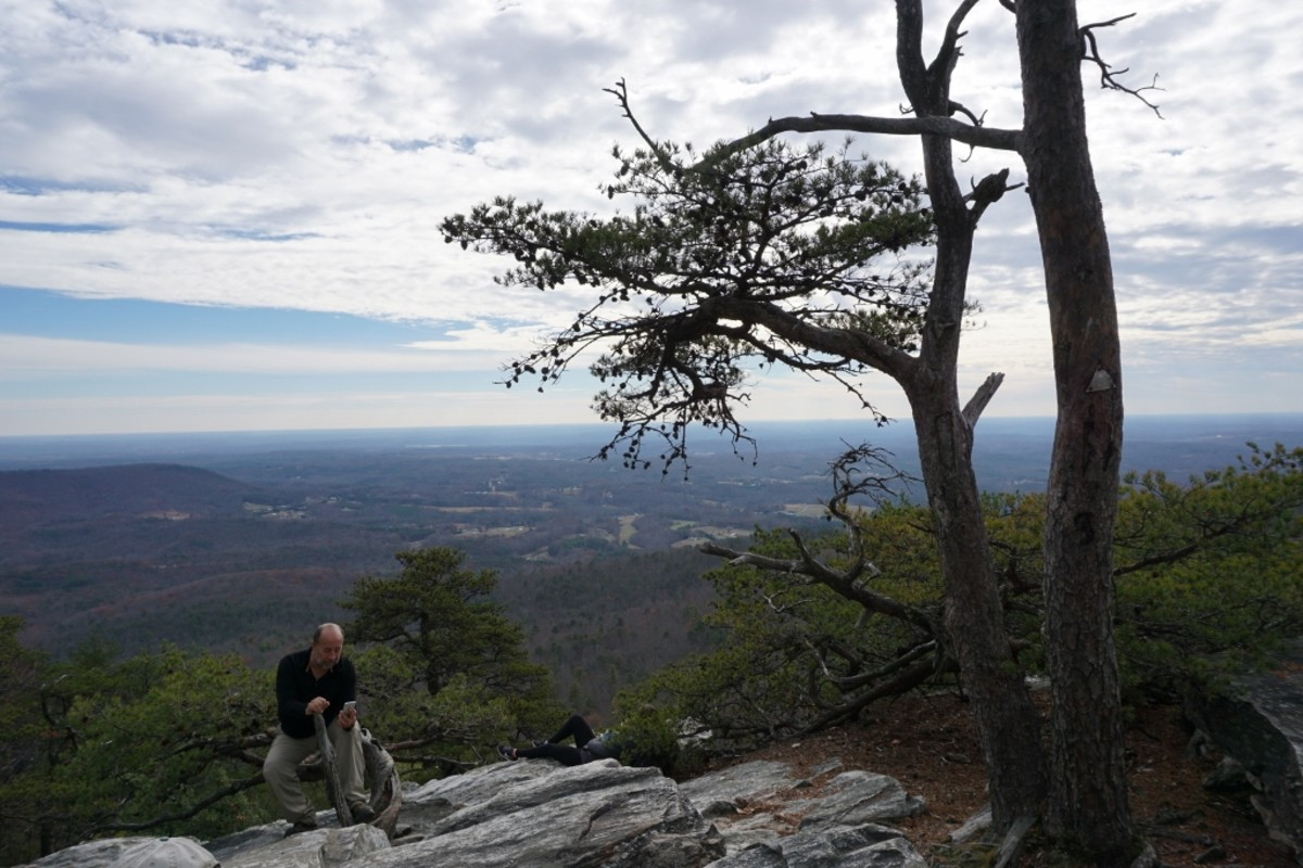 Hanging Rock Trail. Wonderful views but watch the crowds. There are no fences or guard rails up here. Hanging Rock State Park Danbury, NC