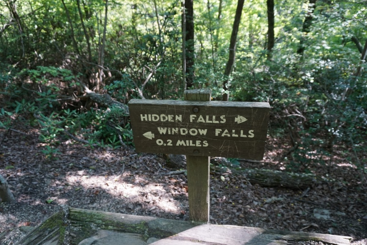 These two waterfalls are located on the Indian Creek Trail.