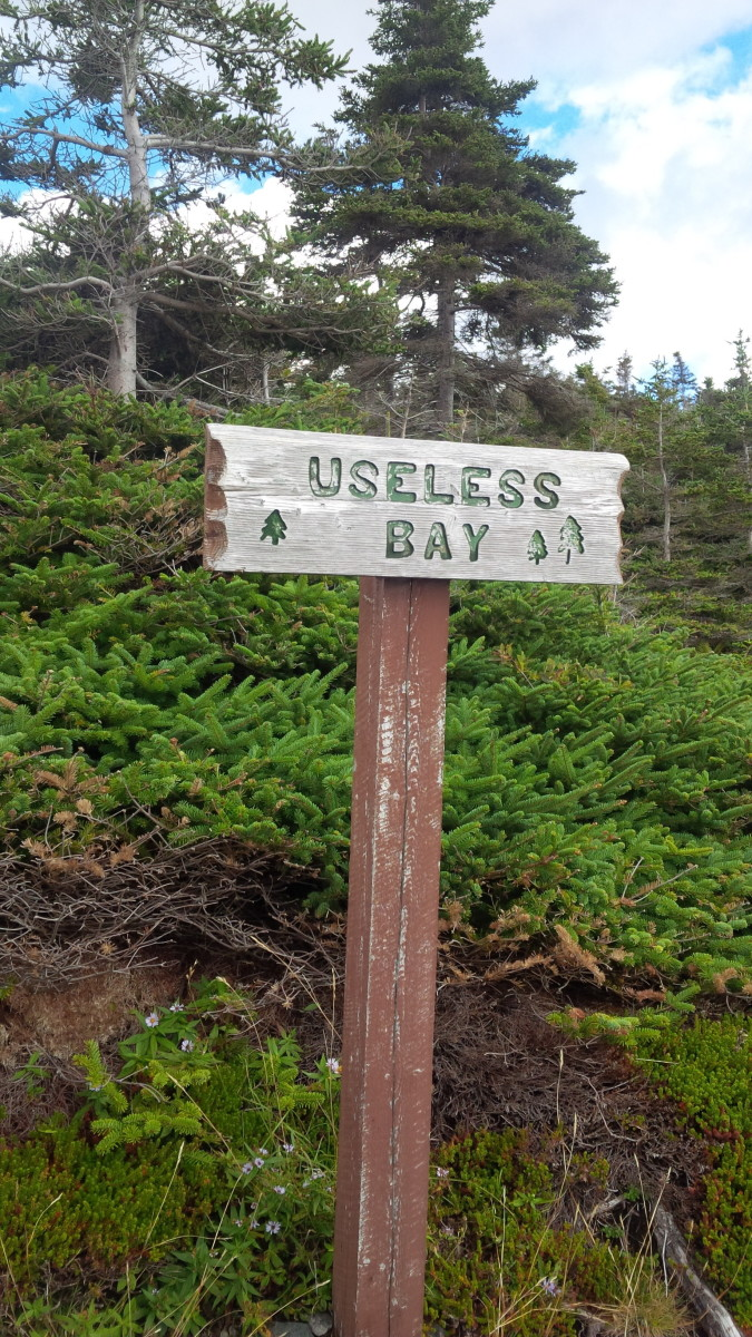 Sign Post marking Useless Bay.
