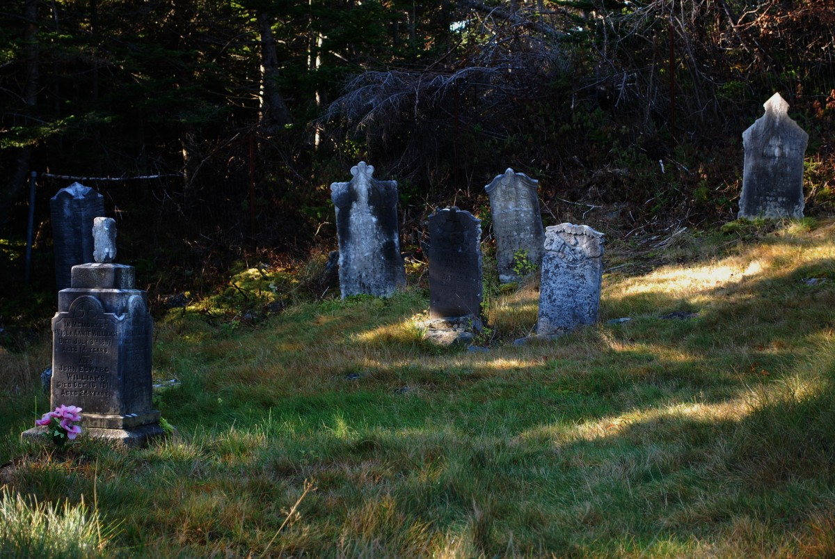 Headstones in the old Holy Trinity Cemetery.