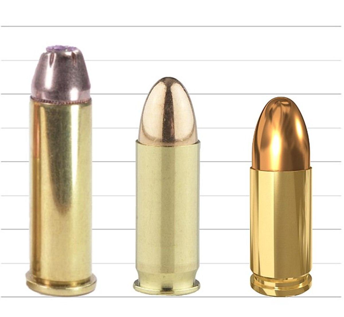 (L-R) .357 Magnum, .38 Super, 9x19mm