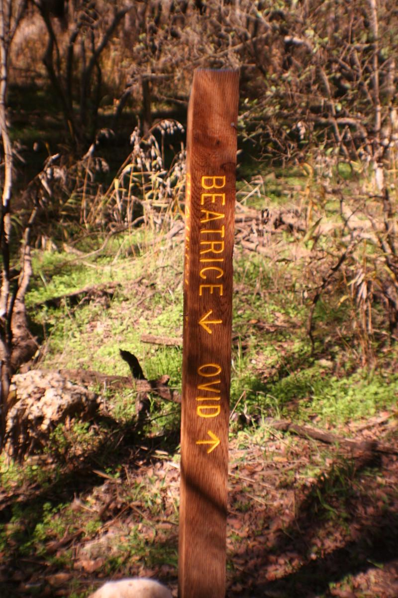 Beatrice/Ovid Trail Marker