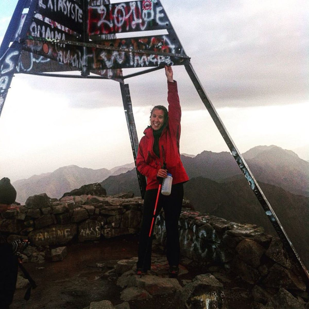 On the top of Mt Toubkal.