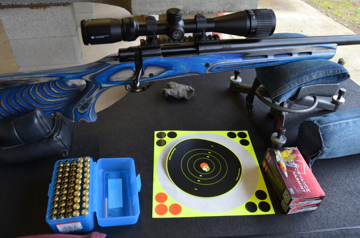 Zeroing the Howa .204 Ruger on the bench.