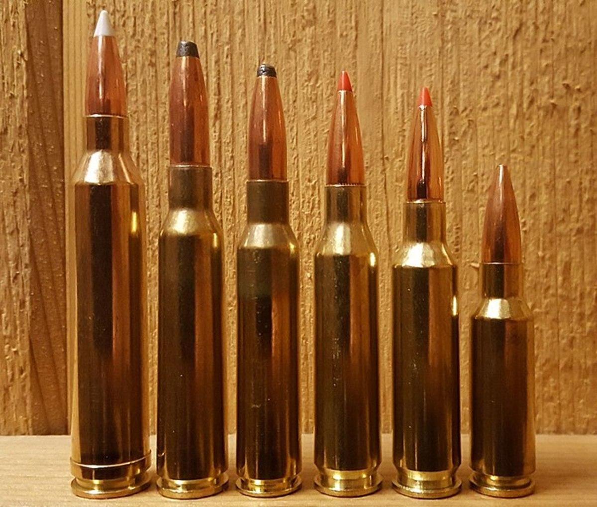 .264 Winchester Magnum (far left)