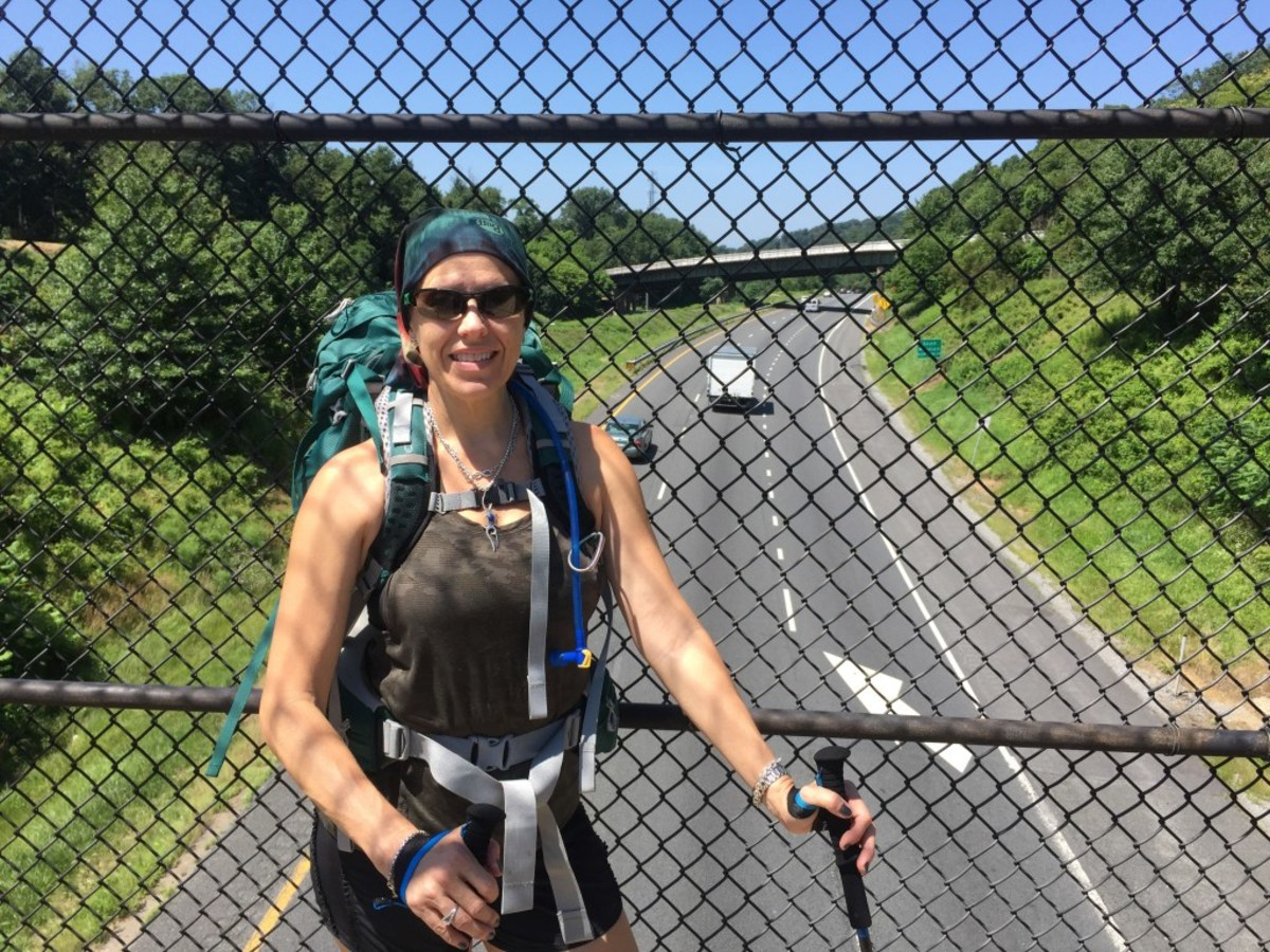 Hiking over the interstate