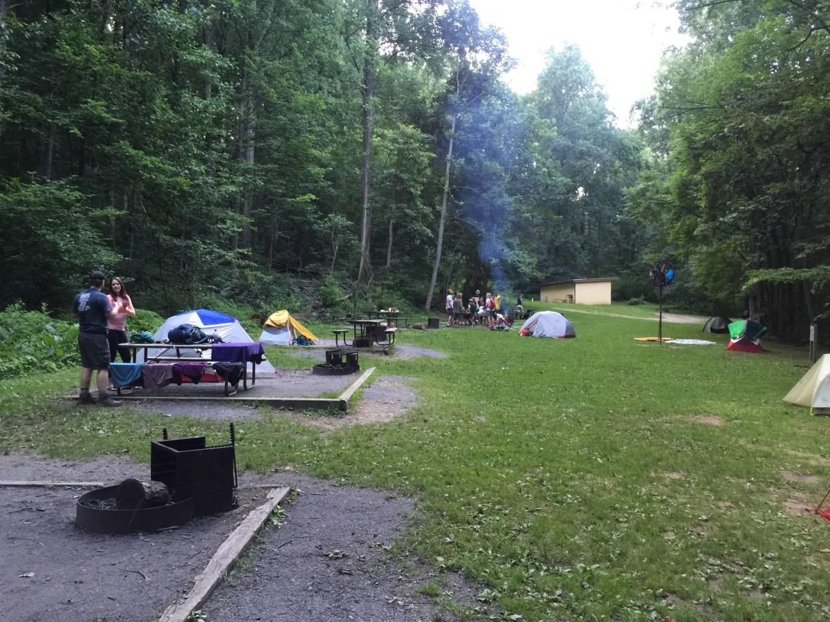 Dahlgren Campground the second night.