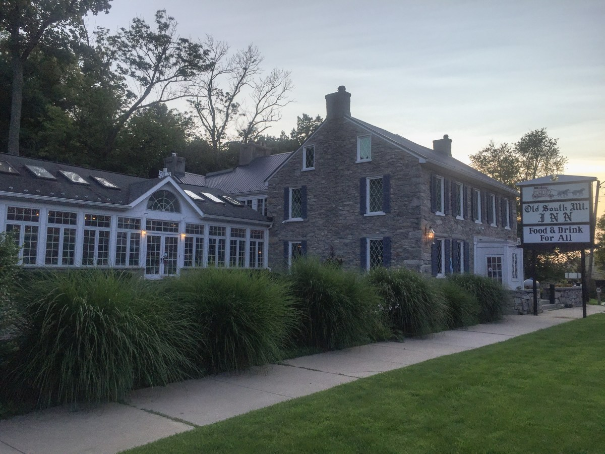 The Old South Mountain Inn welcomed us for an unexpected (and pricey) dinner!
