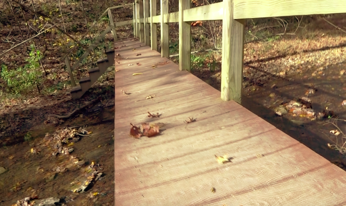 This is one of the longer and narrower bridges on the path to Stillhouse Falls.