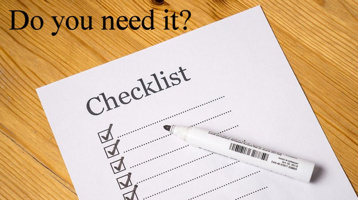 A Camping Checklist