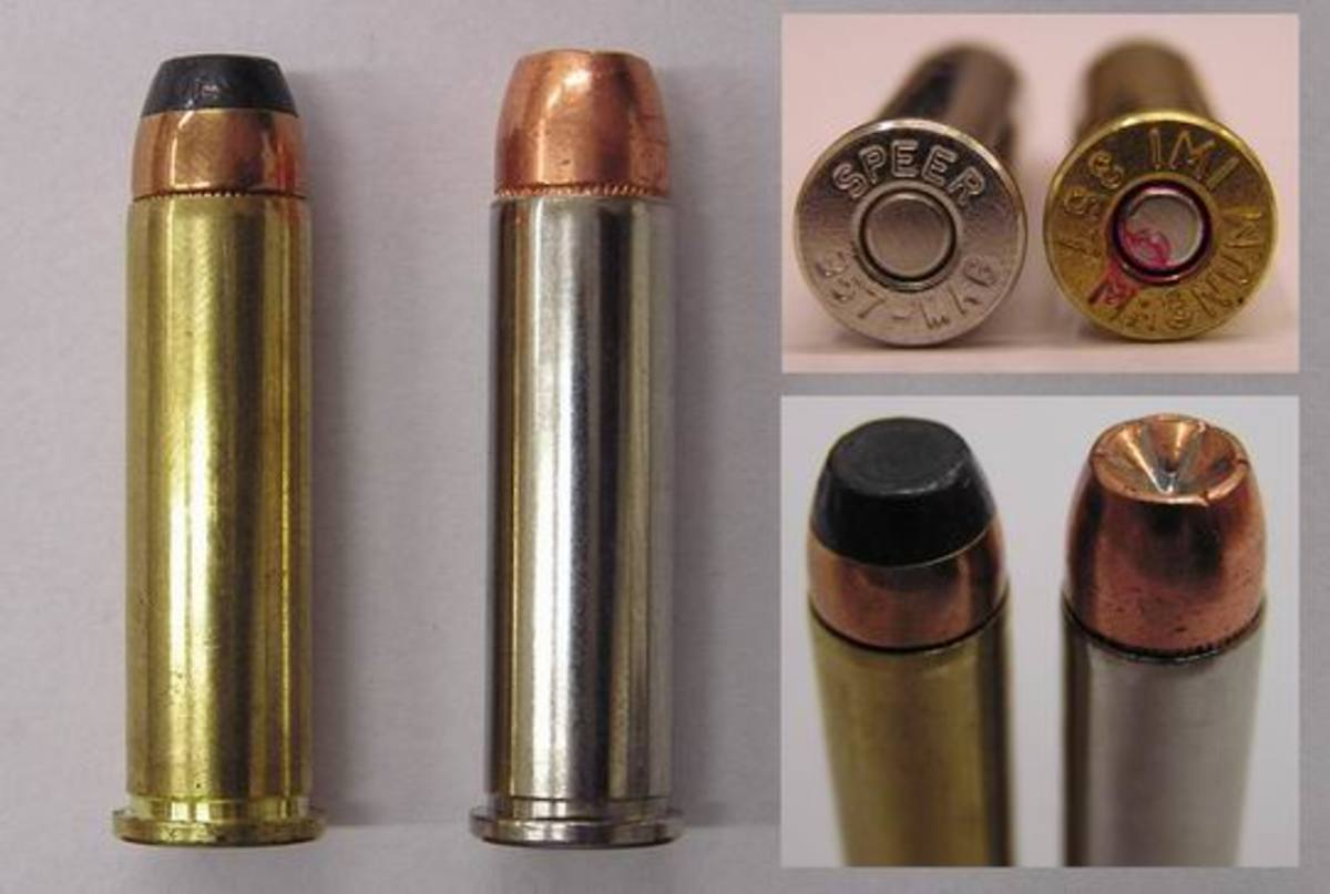 For max penetration, go with bullets like the base-jacketed soft-nose on the left.  Controlled expansion hollow-points, on right, reduce over penetration.
