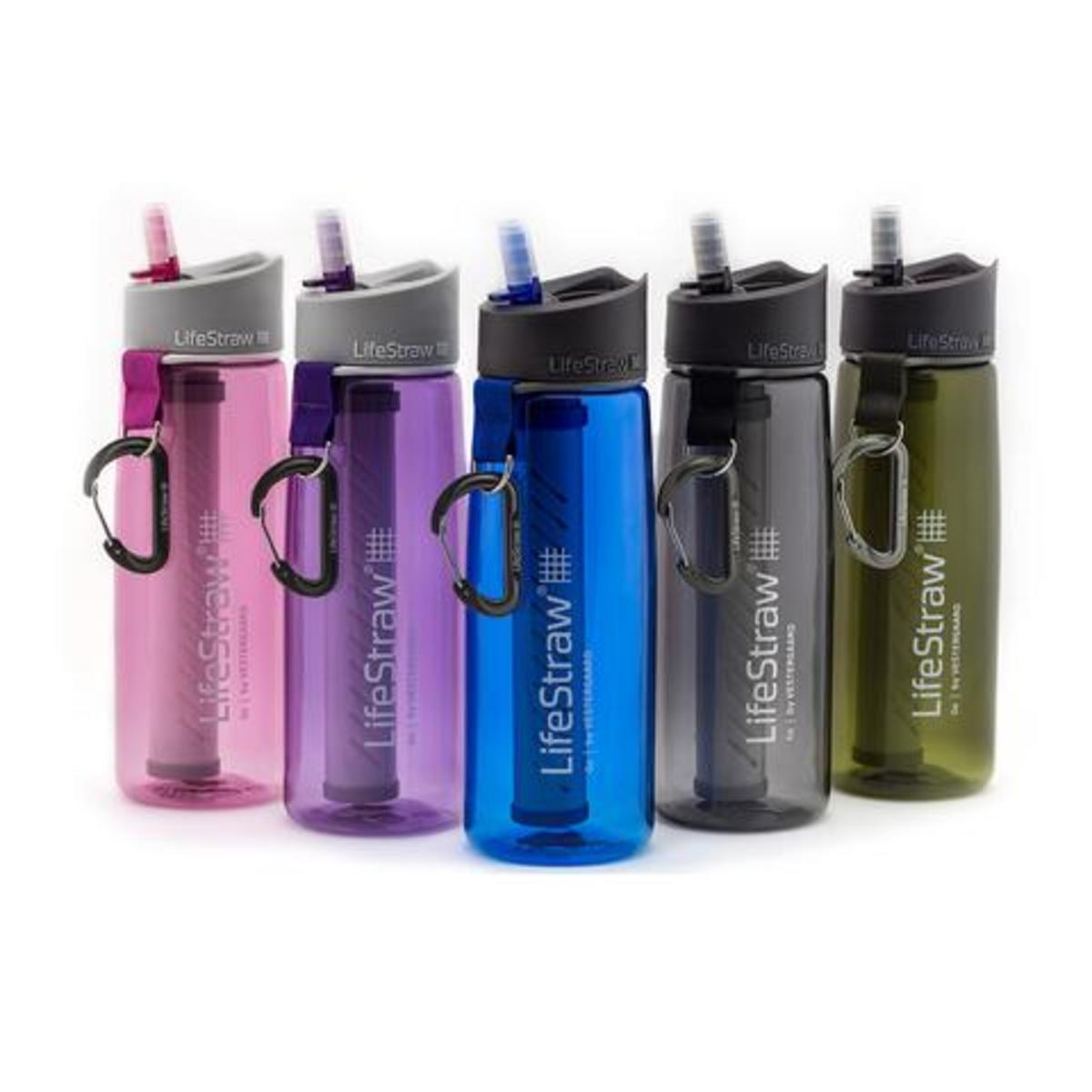 Life Straw Water Bottles are great in hiking emergencies.