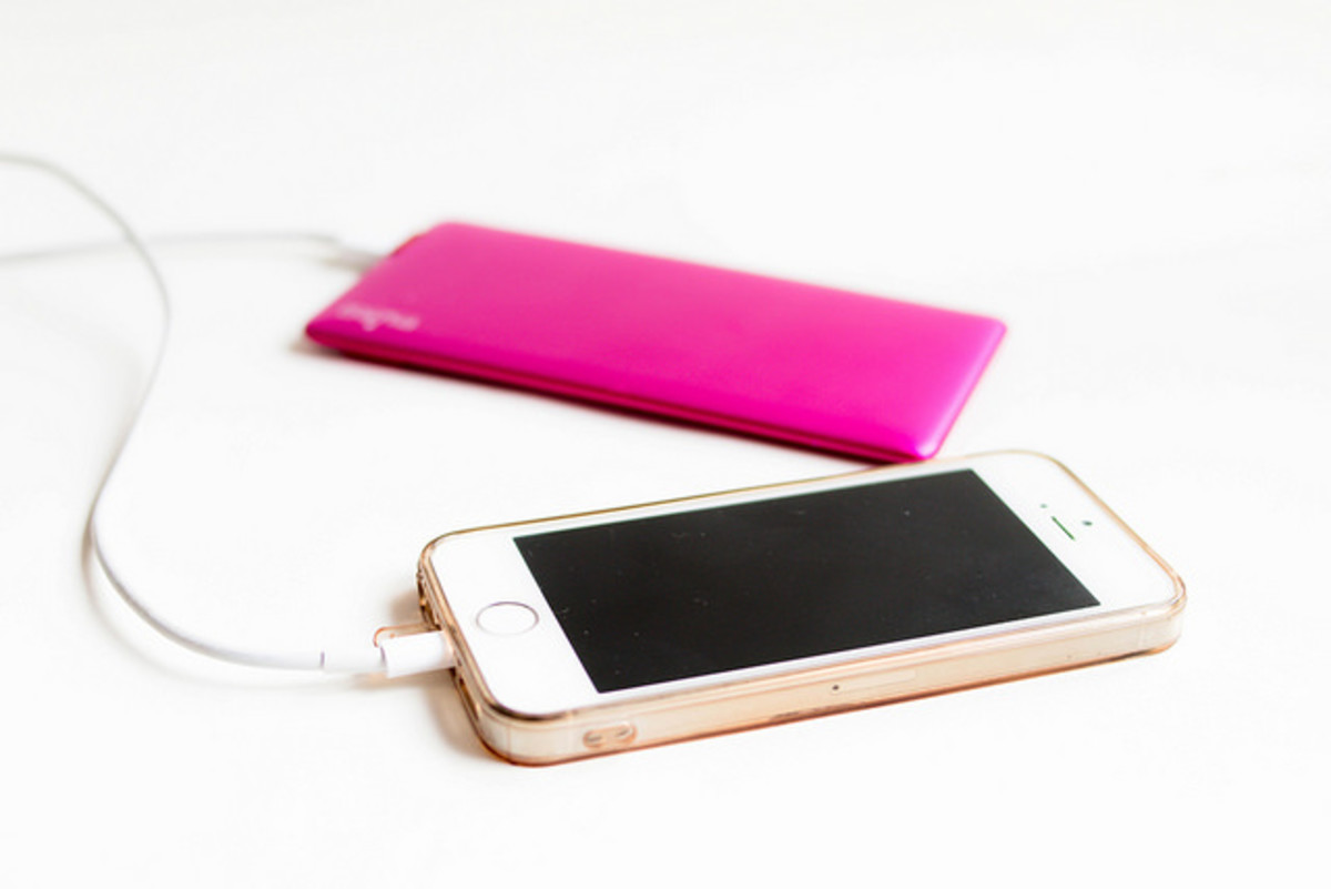 Portable chargers can be useful when you are out hiking and are away from power sources.