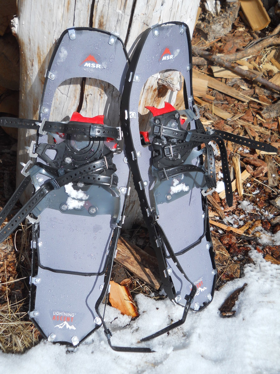 High-quality mountaineering snow shoes, such as these Lightning Ascents from MSR, are a good idea for winter big game hunting.