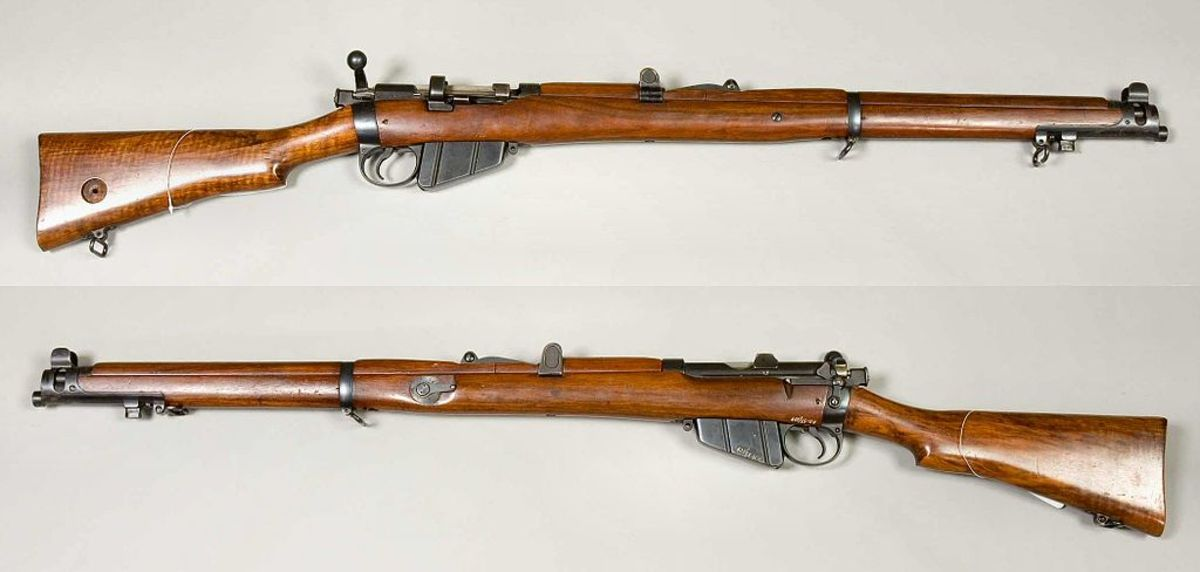 Lee-Enfield No.1 Mk. III. Reliable British firepower.