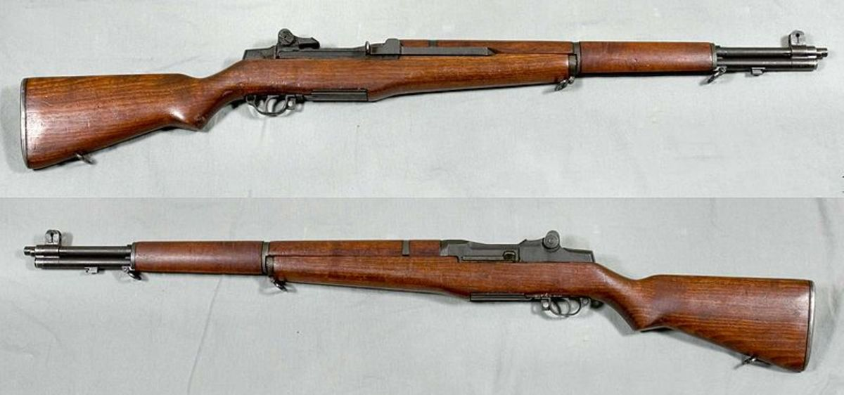 "M1 Garand. Gen. Patton called it, ""The greatest battle implement ever devised."""