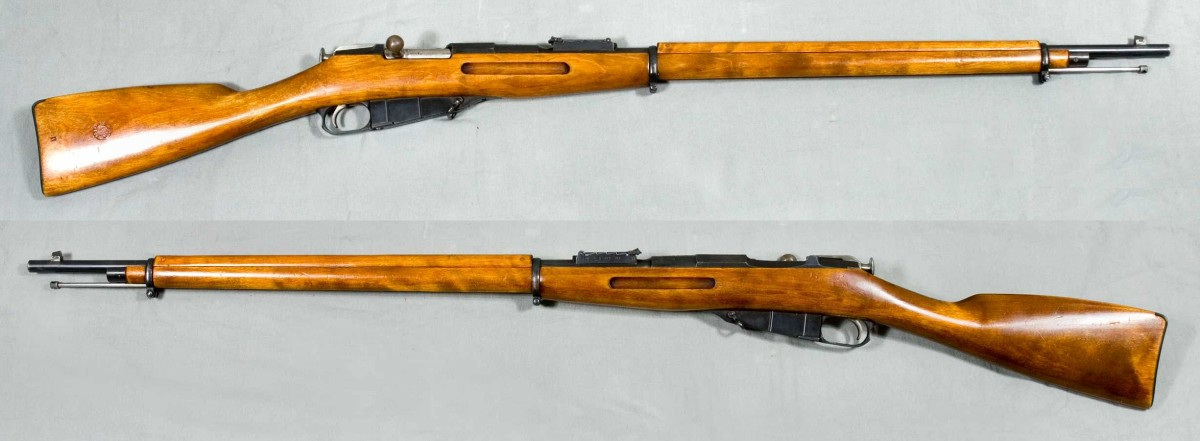 Mosin-Nagant M1891.  Long as the Siberian Railroad, tough as the Russian Winter.