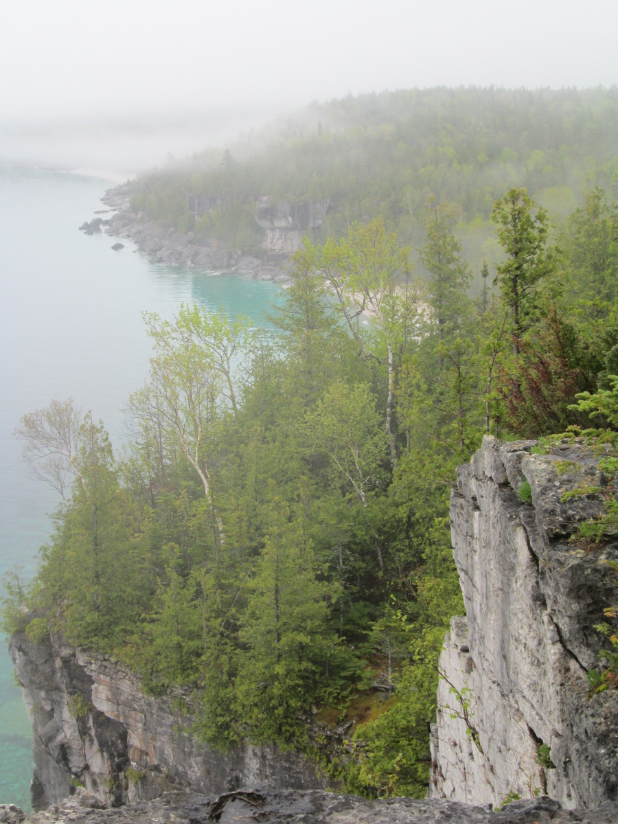 View of the Georgian Bay from the Bruce Trail, heading south from Cyprus Lake.