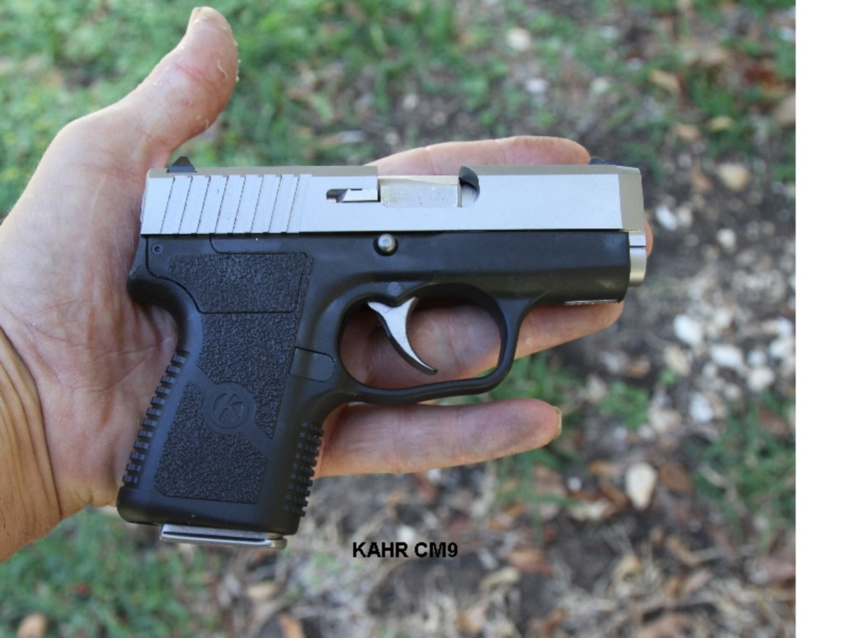 This Kahr CM9, chambered in 9mm, is just a fraction larger and heavier than many .380s.  Which would you rather have in a fight?
