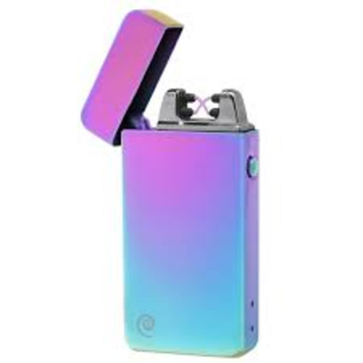 Double Arc—Lighters have been incorporated into guns, walking sticks and now, mobile/cell phones.