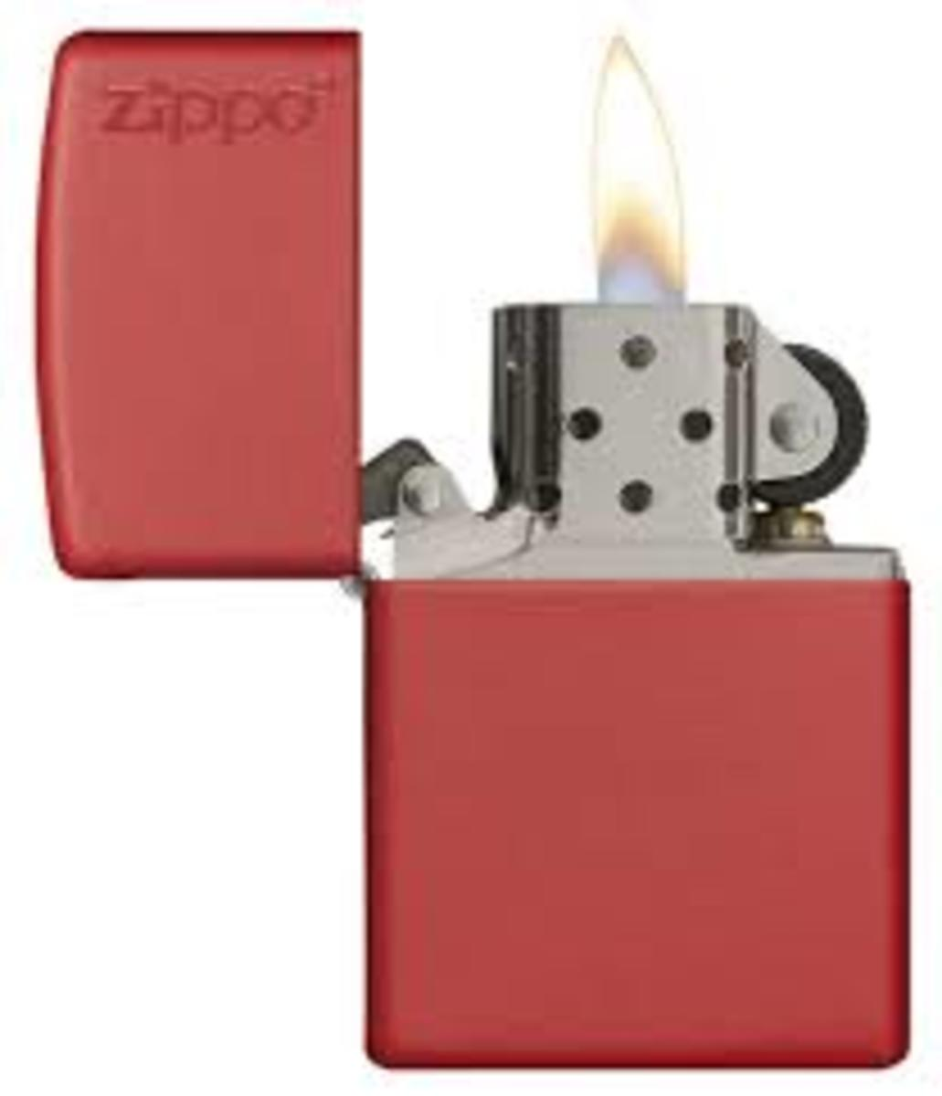 Zippo—When you're so cold you'd use anything to keep a bit warmer.