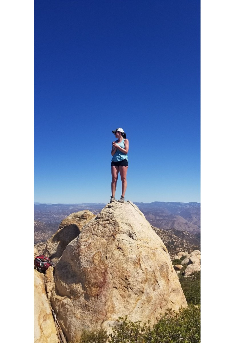 The author soaks in the views from the top of El Cajon