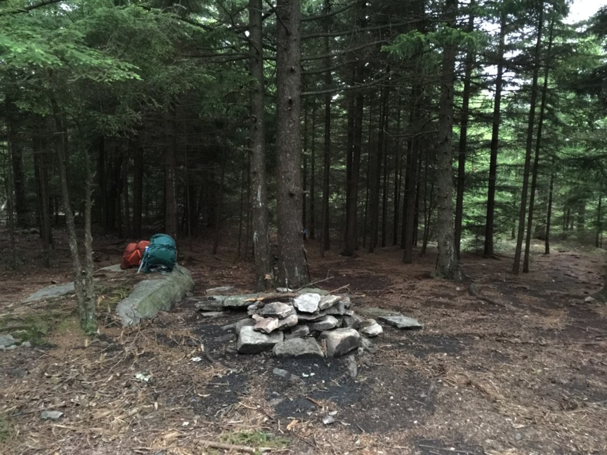 Our first campsite