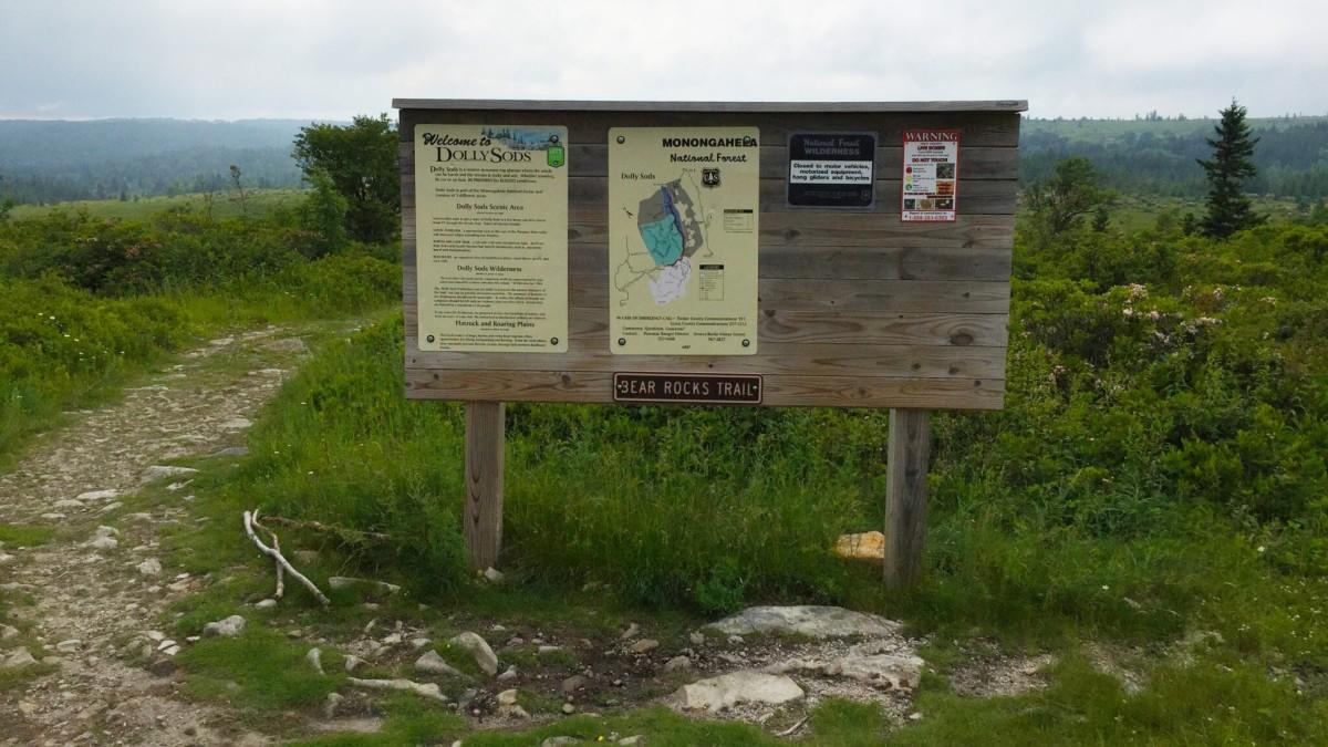 Bear Rocks Trailhead