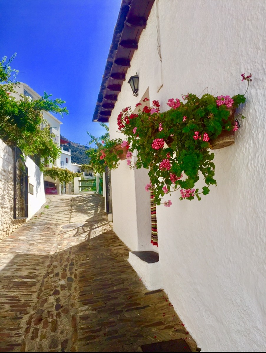 A narrow street of Bubión.
