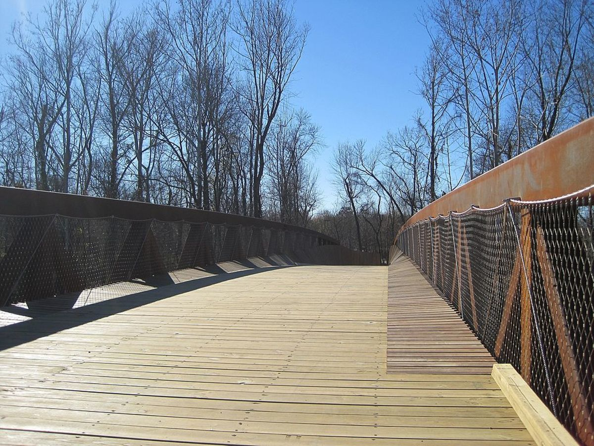 Wolf River Greenway, Memphis, Tennessee. The Greenway connects the Midtown to Shelby Farms Park Greenway and neighborhoods along Humphreys Boulevard. Wolf River Greenway Bridge
