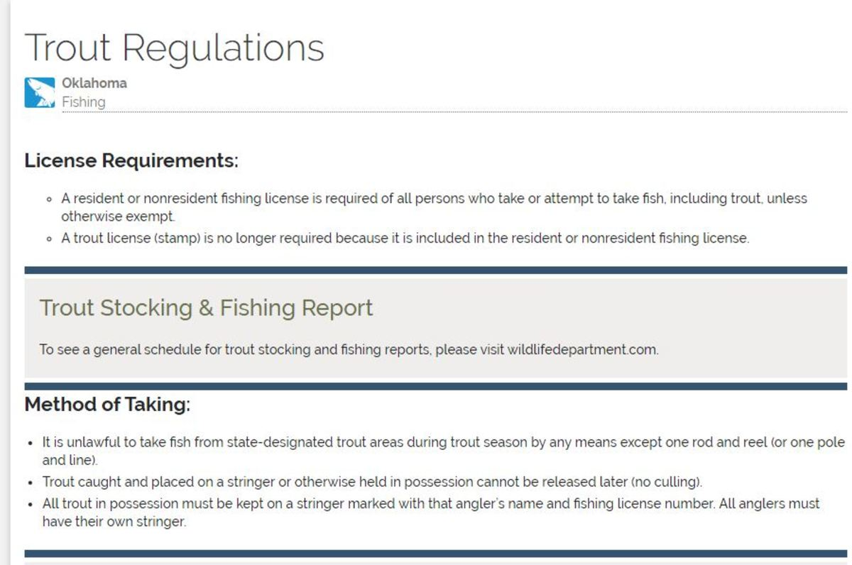 Retrieved from http://www.eregulations.com/oklahoma/fishing/trout-regulations/