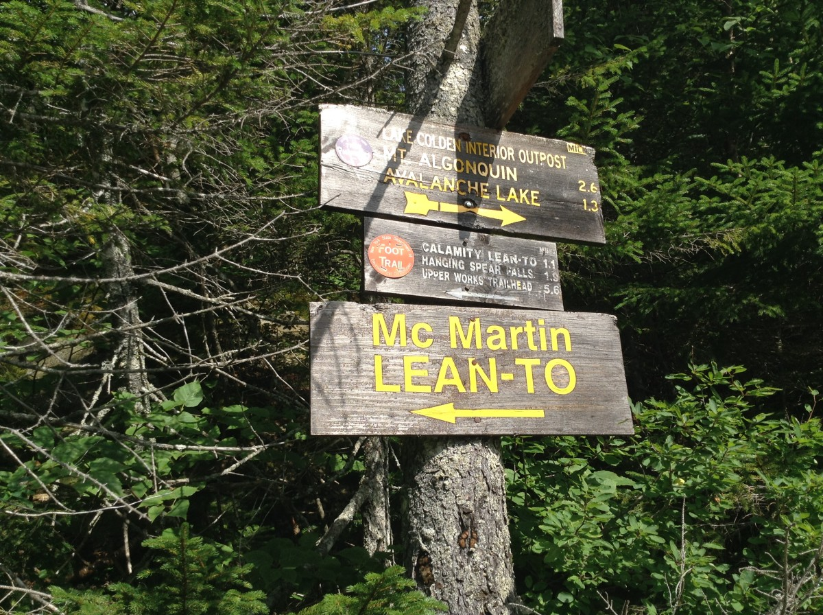 Signage at Lake Colden