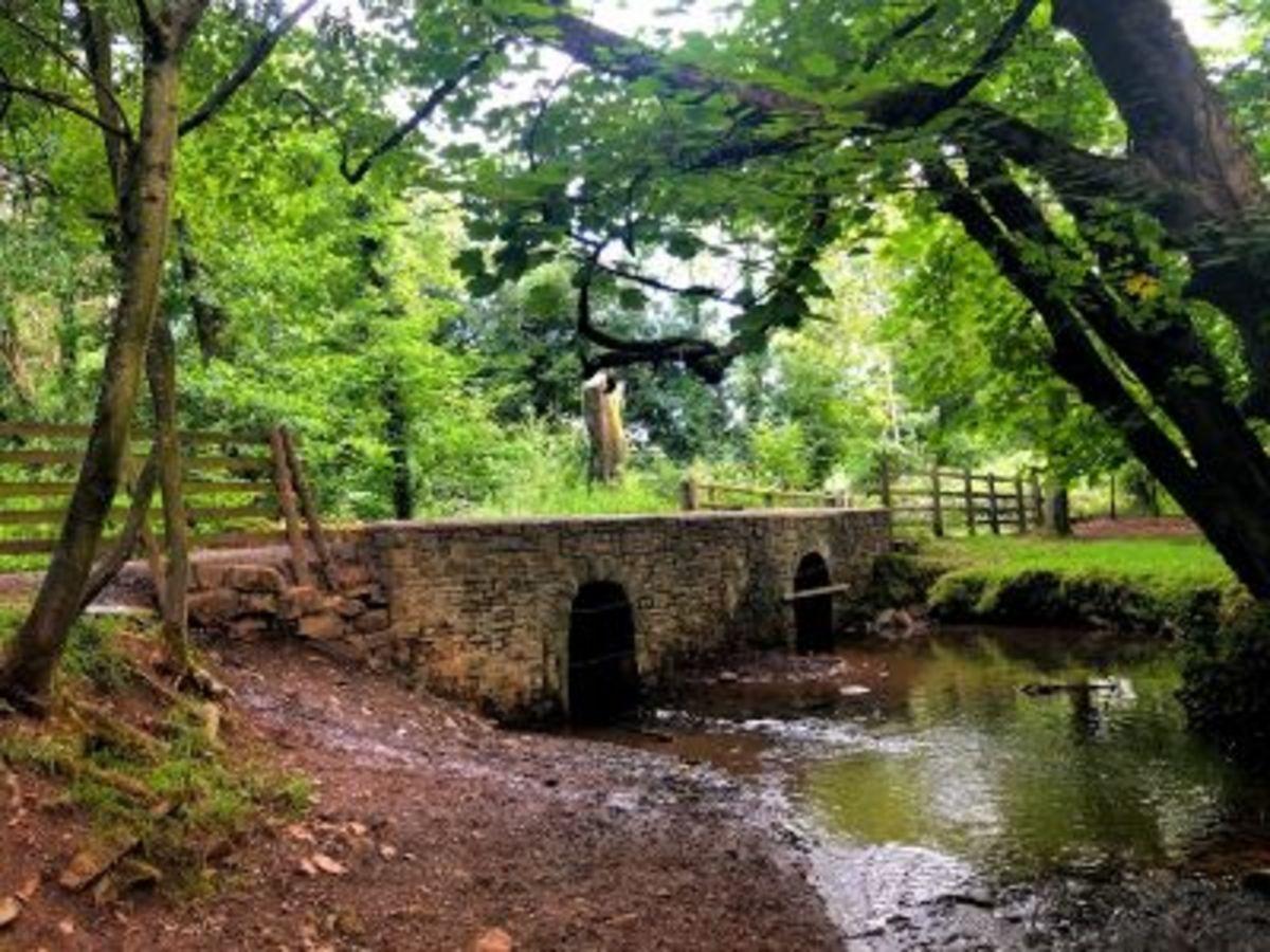 You will cross this bridge twice on the figure of eight walk
